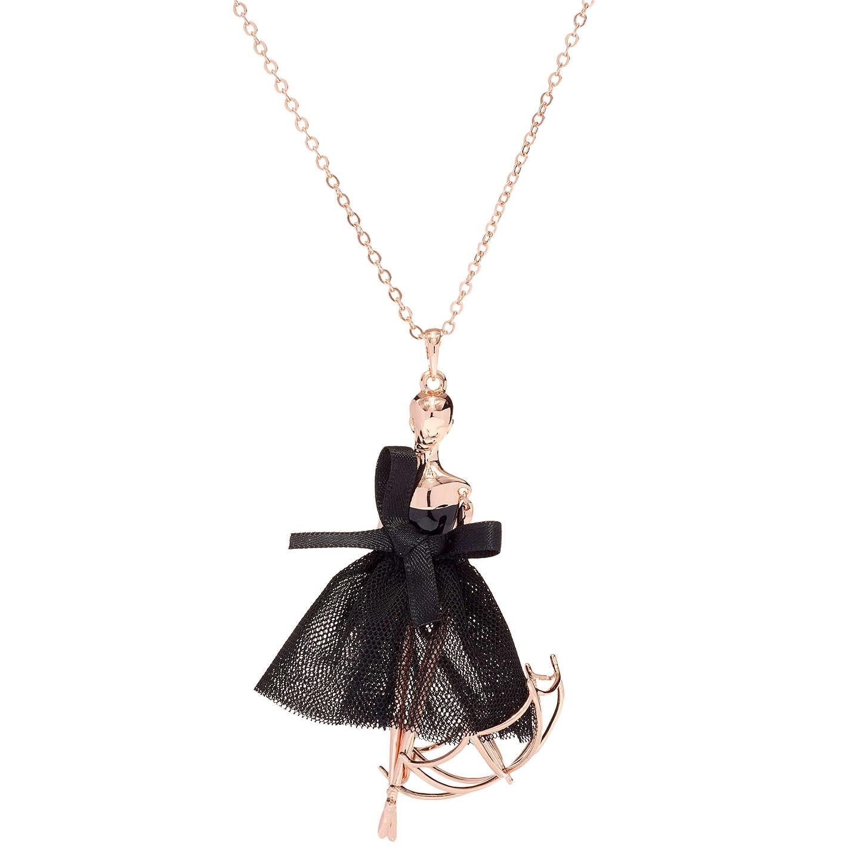 Ted baker ursaa umbrella ballerina pendant necklace rose goldblack buyted baker ursaa umbrella ballerina pendant necklace rose goldblack online at johnlewis aloadofball Choice Image