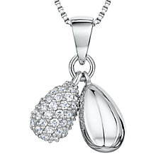 Buy Jools by Jenny Brown Cubic Zirconia Double Teardrop Pendant Necklace, Silver Online at johnlewis.com