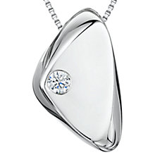 Buy Jools by Jenny Brown Triangular Cubic Zirconia Pendant Necklace, Silver Online at johnlewis.com