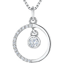 Buy Jools by Jenny Brown Cubic Zirconia Round Pendant Necklace, Silver Online at johnlewis.com