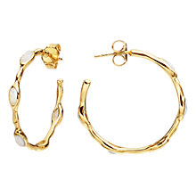 Buy Missoma Molten Magna 18ct Gold Hoop Earrings, Gold Online at johnlewis.com