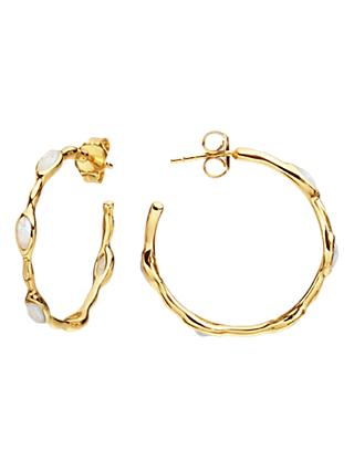Missoma Molten Magma 18ct Gold Hoop Earrings