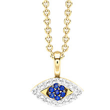 Buy Missoma 18ct Gold Vermeil Zircon Evil Eye Pendant Necklace, Gold/Blue Online at johnlewis.com