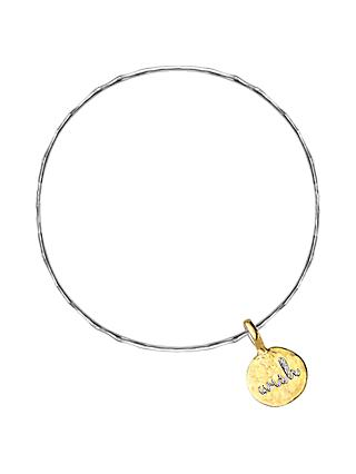 Dower & Hall Engravable Cherish the Moment Flat Disc Bangle