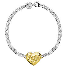 Buy Dower & Hall Engravable Cherish the Moment Heart Double Chain Bracelet Online at johnlewis.com