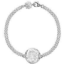 Buy Dower & Hall Engravable Cherish the Moment Disc Double Chain Bracelet Online at johnlewis.com
