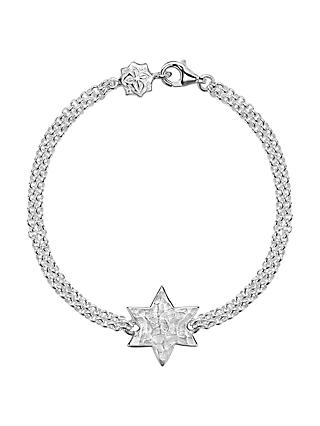 Dower & Hall Engravable Cherish the Moment Star Double Chain Bracelet