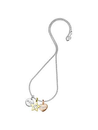 Dower & Hall Engravable Disc, Star and Heart Pendant Necklace