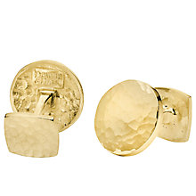 Buy Dower & Hall Engravable Round Disc Cufflinks Online at johnlewis.com