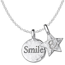 Buy Dower & Hall Engravable Disc and Star Pendant Necklace Online at johnlewis.com