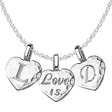Buy Dower & Hall Engravable Trio Heart Pendant Necklace Online at johnlewis.com
