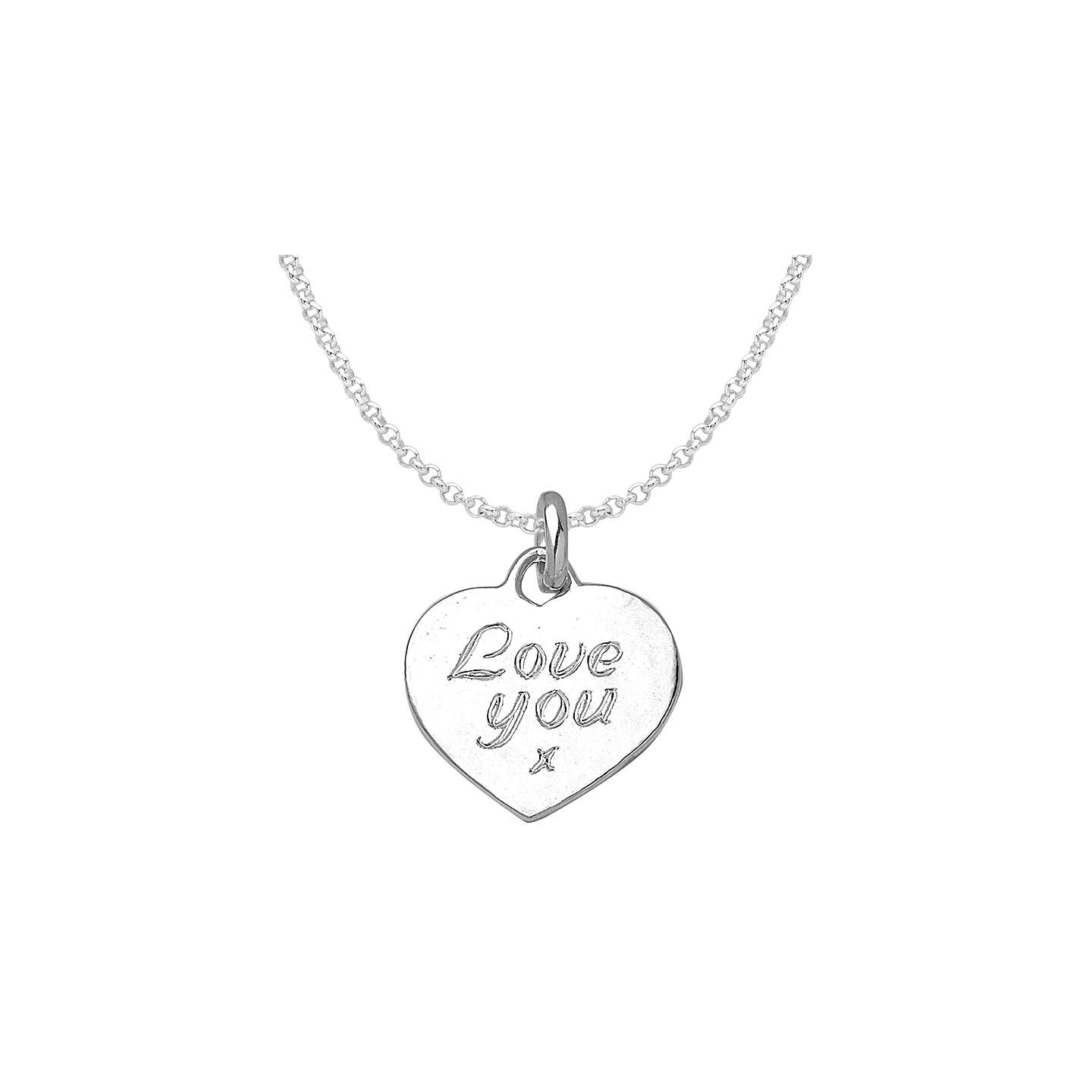 Dower hall engravable large heart pendant necklace at john lewis buydower hall engravable large heart pendant necklace silver online at johnlewis mozeypictures Gallery