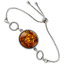 Buy Be-Jewelled Round Amber Chain Bracelet, Cognac Online at johnlewis.com