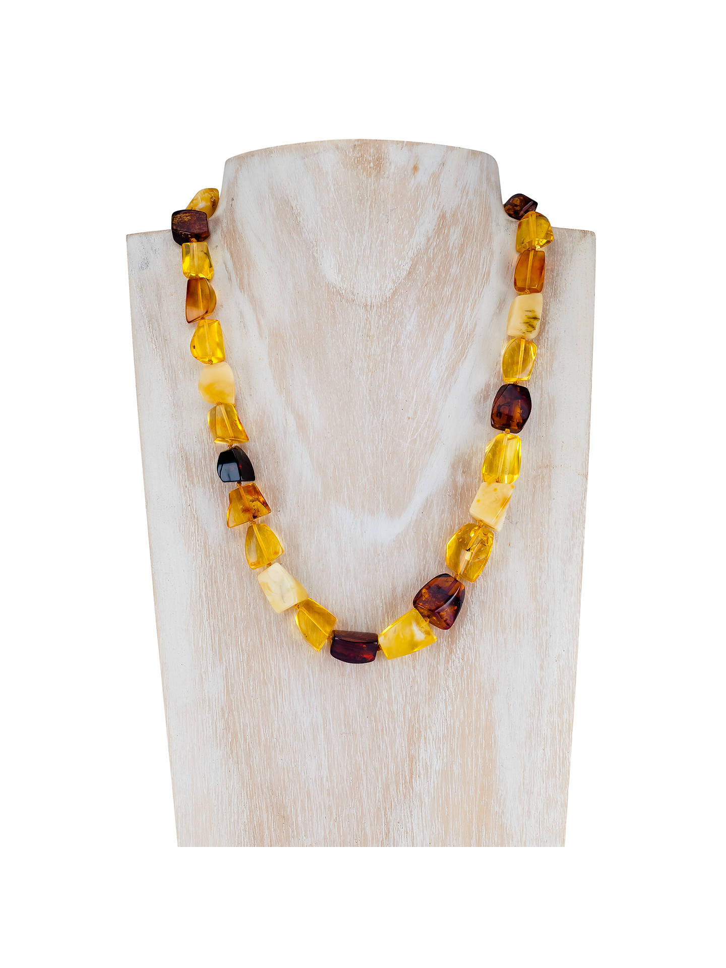 BuyBe-Jewelled Amber Necklace, Lemon/Cherry Online at johnlewis.com