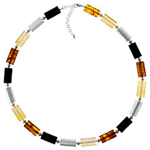 Buy Be-Jewelled Tubular Amber Necklace, Multi Online at johnlewis.com