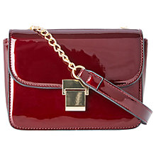 Buy Oasis Pammy Paris Cross Body Bag, Burgundy Online at johnlewis.com