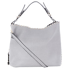 Buy Oasis Skylar Scalloped Hobo Bag, Mid Grey Online at johnlewis.com
