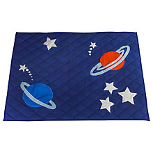 Buy Kiddiewinkles Children's Outer Space Play Space Quilt, Large Online at johnlewis.com
