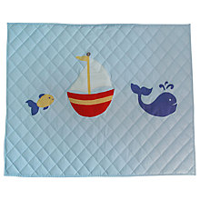 Buy Kiddiewinkles Children's Nautical Playspace Floor Quilt, Large Online at johnlewis.com
