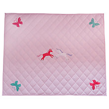 Buy Kiddiewinkles Children's Unicorn & Butterfly Playspace Quilt, Large Online at johnlewis.com