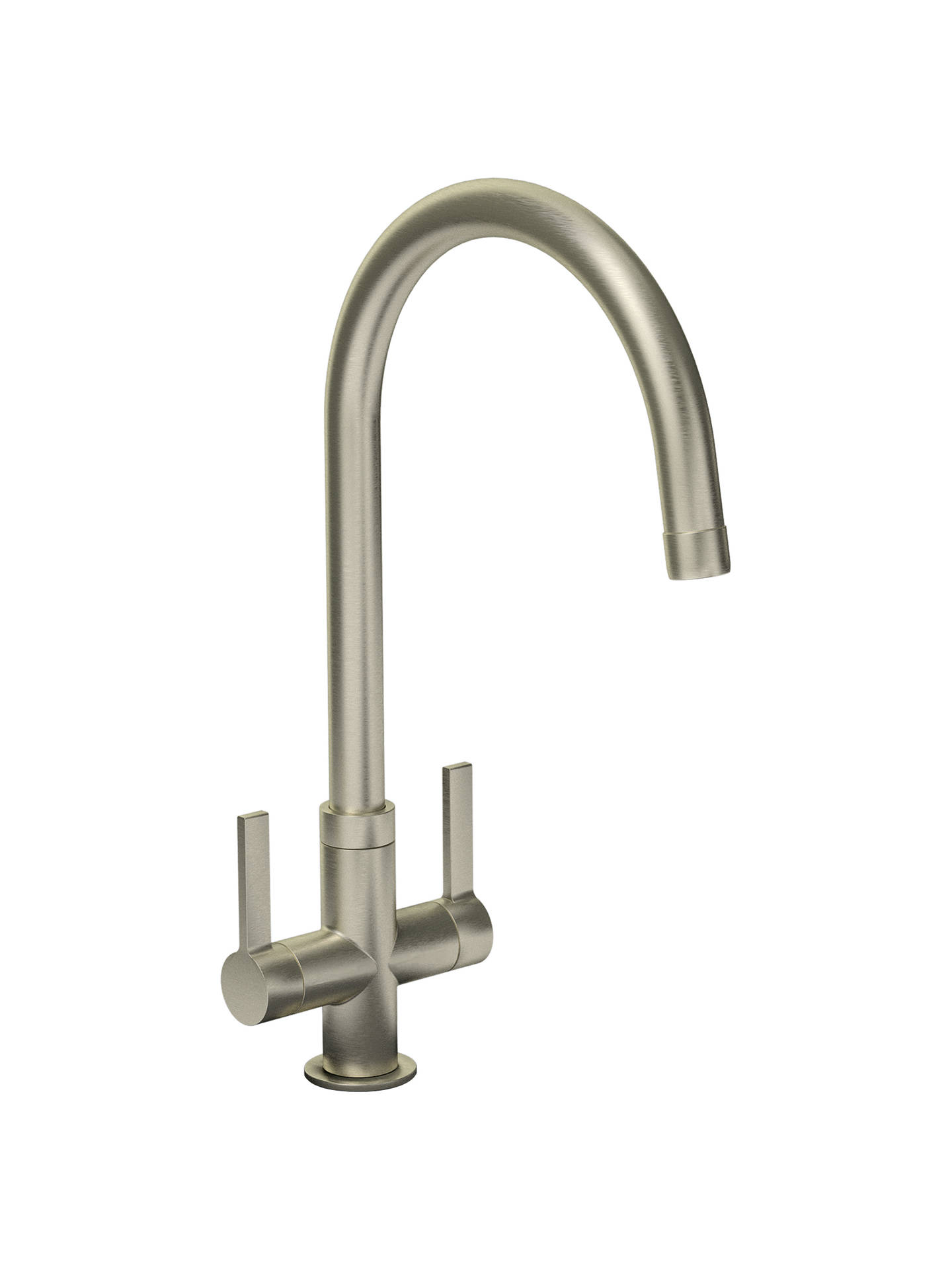 Buy Abode Pico 2 Lever Monobloc Kitchen Tap, Brushed Nickel Online at johnlewis.com