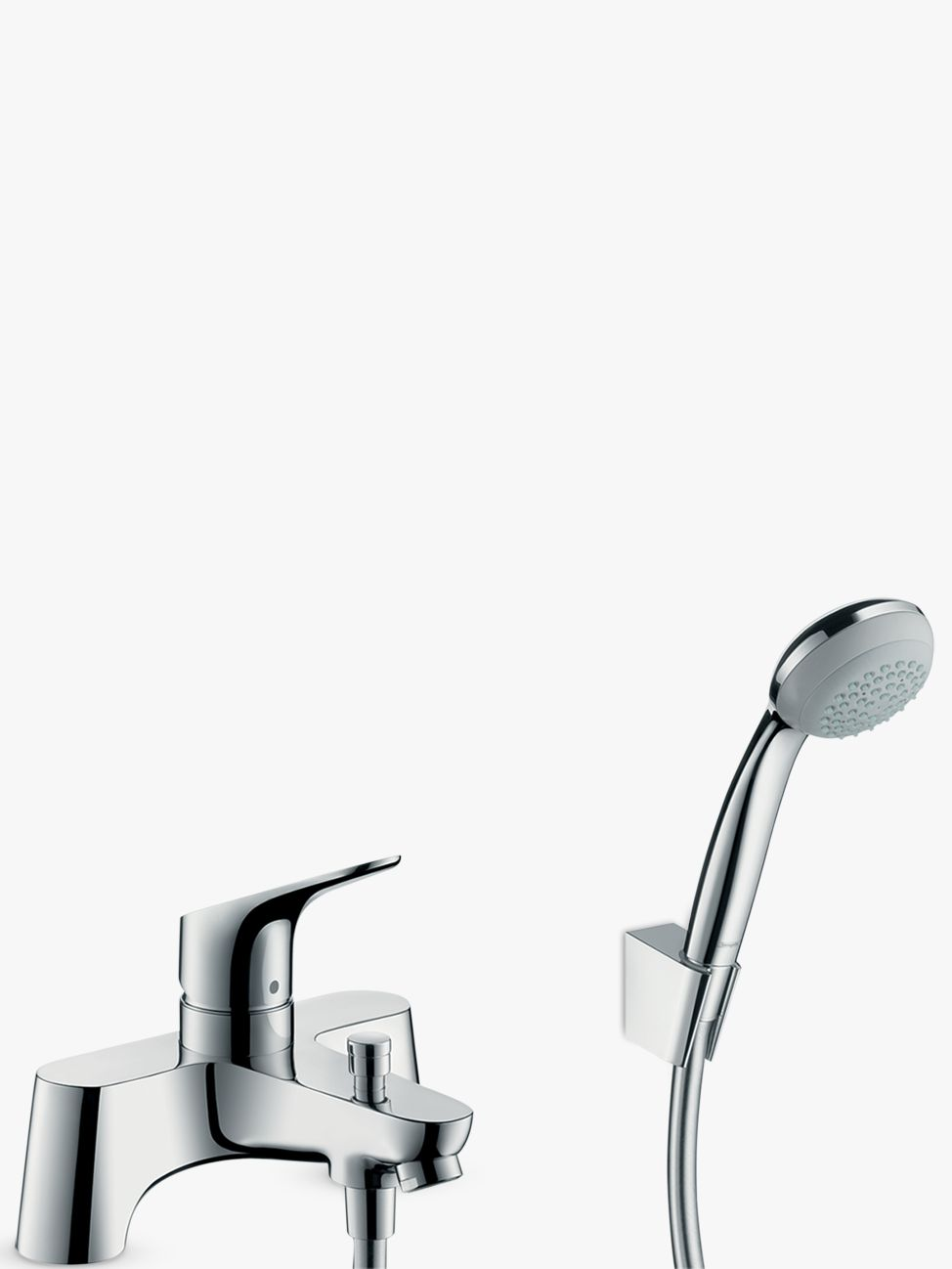 Hansgrohe Hansgrohe Focus Single Lever 2 Hole Bathroom Mixer Tap / Crometta 85 Hand Shower, Chrome
