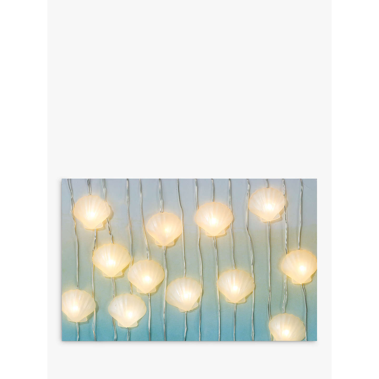 Talking Tables Mermaid Shell 30 String Led Lights Online At Johnlewis