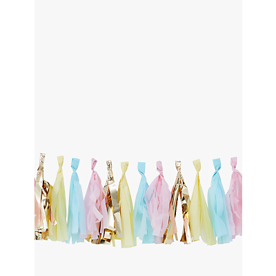 Image of Ginger Ray Tassel Garland, Pastel & Gold