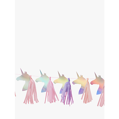 Image of Ginger Ray Unicorn Head Tassel Garland