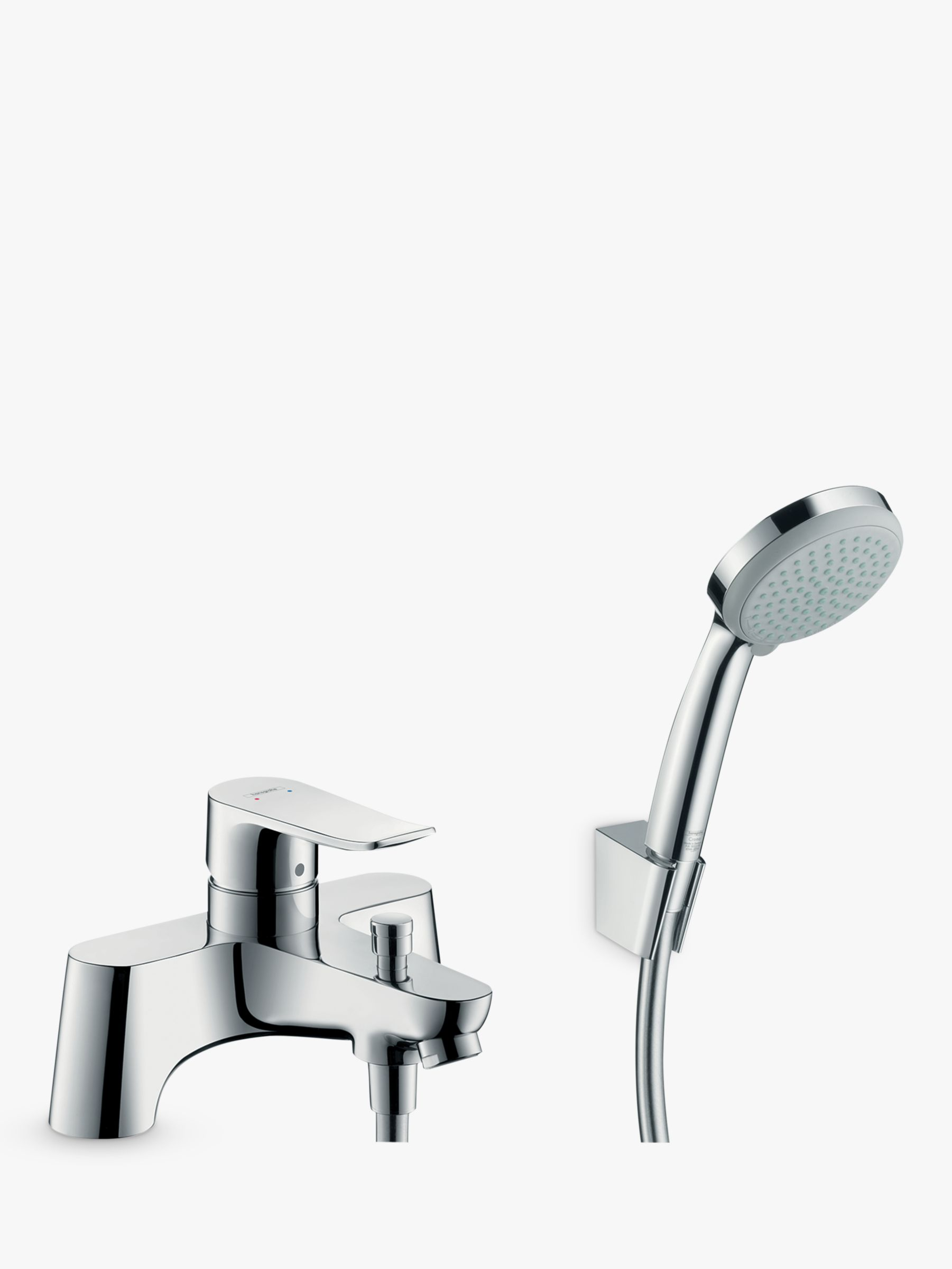 Hansgrohe Hansgrohe Metris Single Lever Bathroom Mixer Tap with Shower Head, Chrome