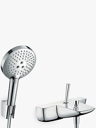 Hansgrohe PuraVida Single Lever Bathroom Mixer Tap with Shower Head, Chrome
