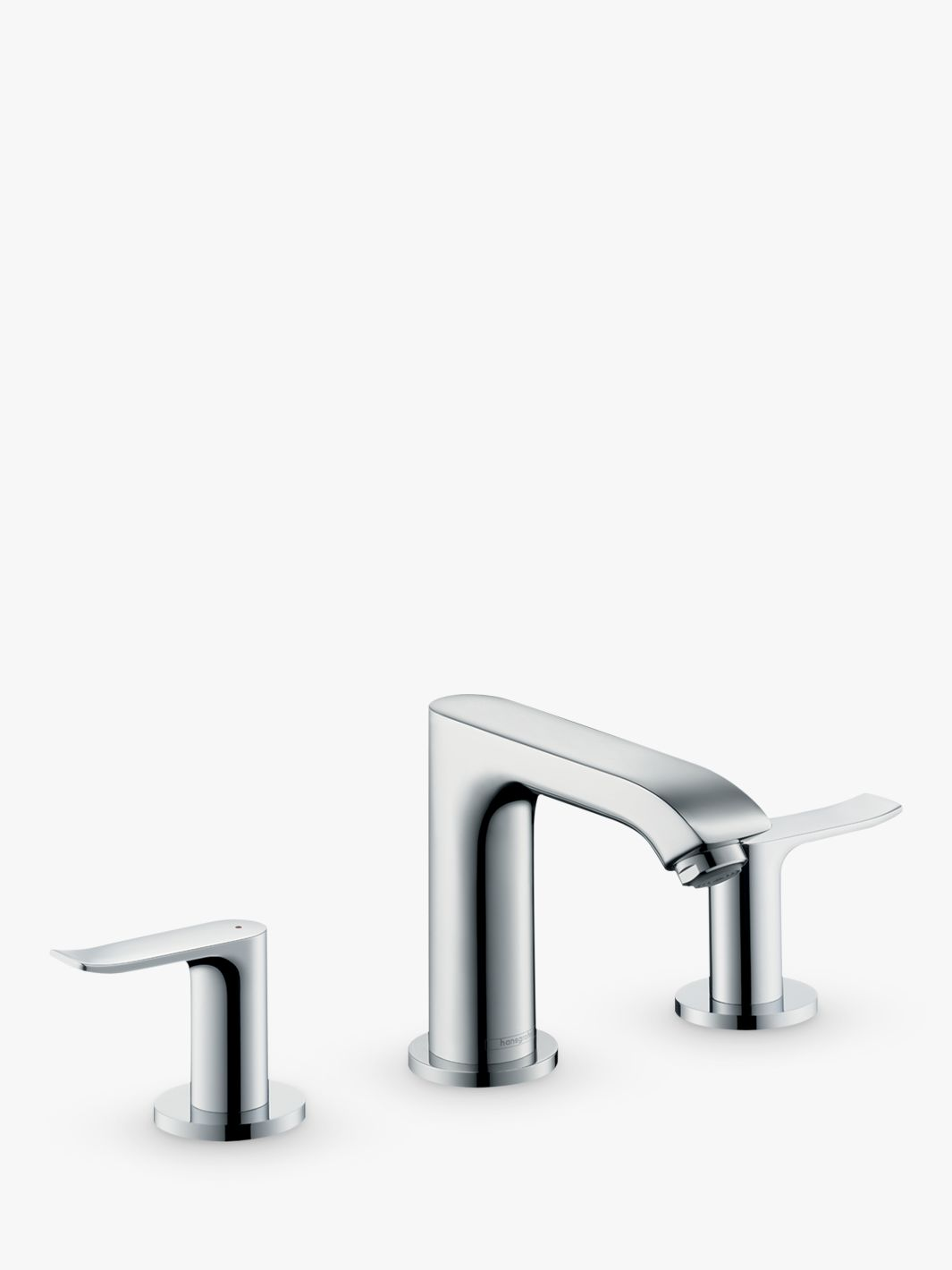 Hansgrohe Hansgrohe Metris 2 Lever 3 Hole Bathroom Basin Mixer Tap, Chrome