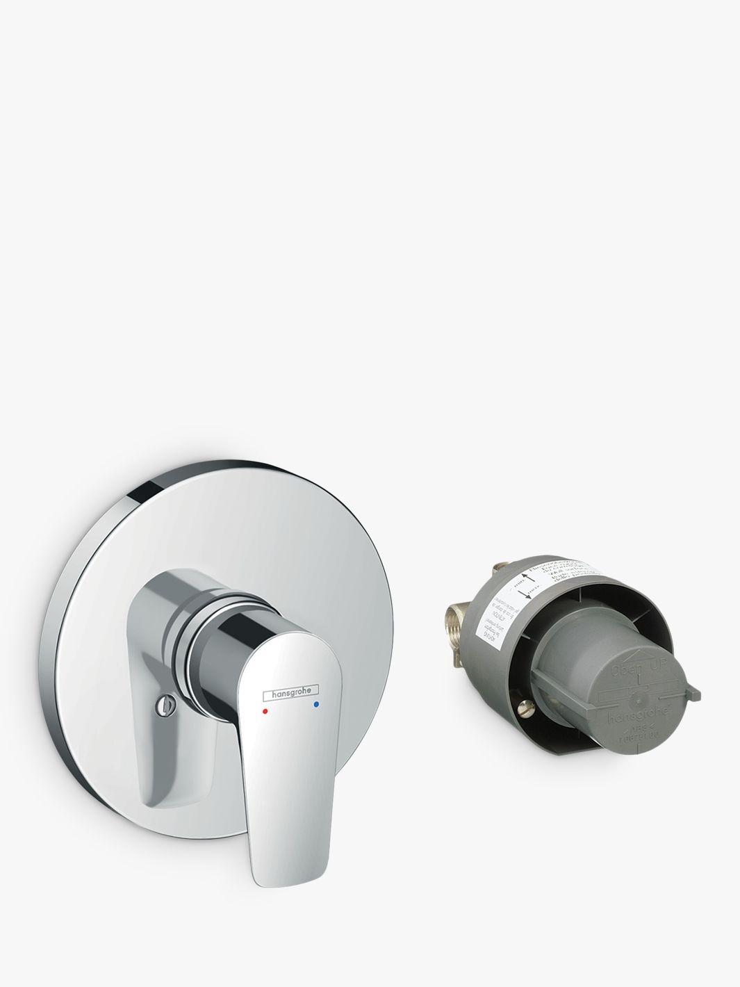 Hansgrohe Talis E Single Lever Concealed Installation Round Bath Shower Mixer Tap With Basic Set Chrome
