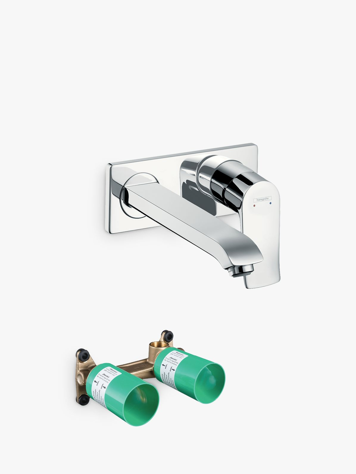 Hansgrohe Hansgrohe Metris Single Lever Bathroom Basin Mixer Tap with Basic Set, Chrome