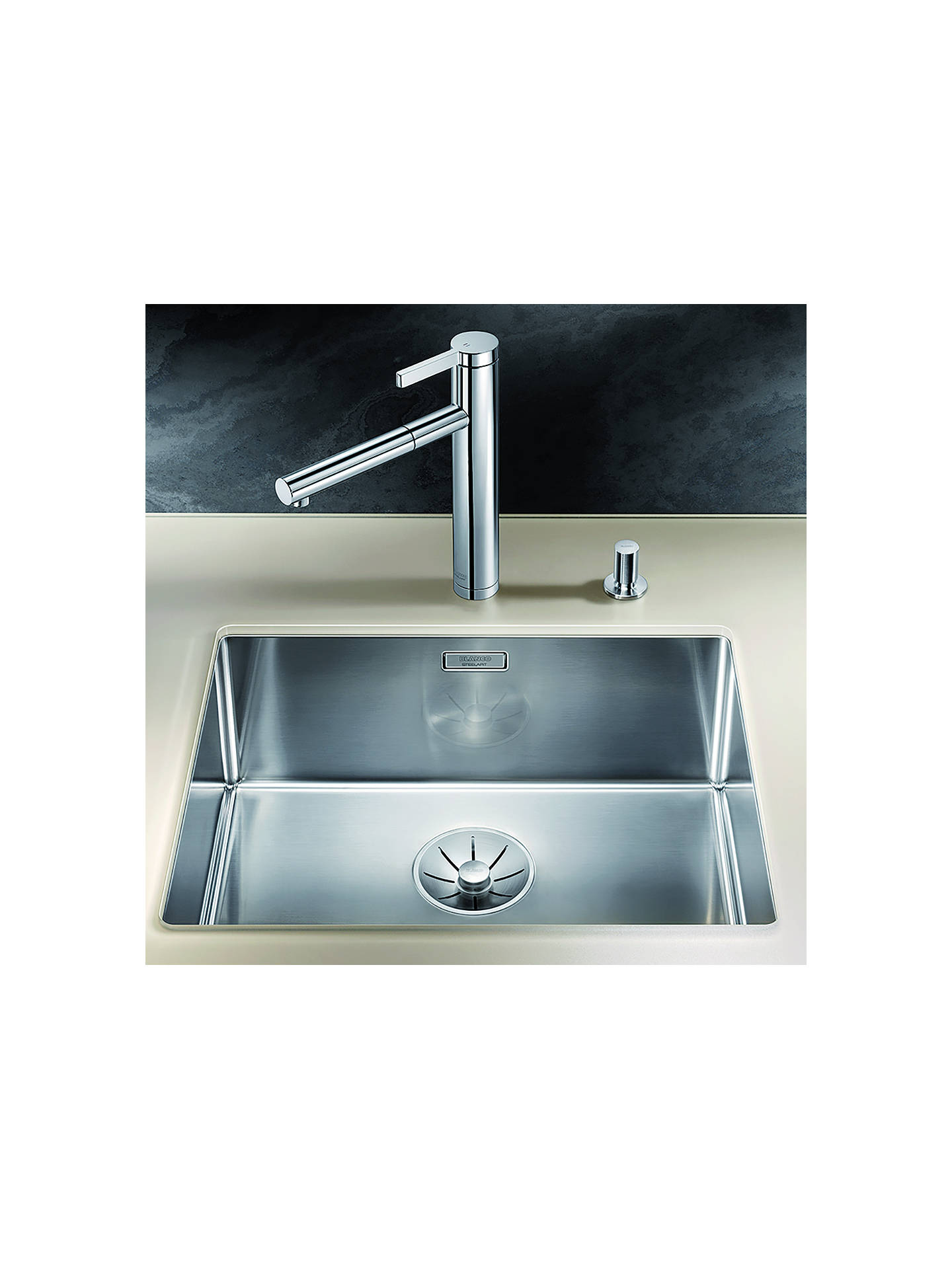 Blanco Claron 500-U Single Bowl Undermounted Kitchen Sink, Stainless ...