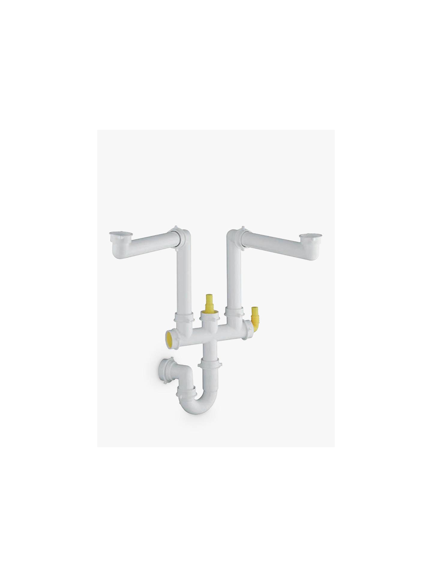 Blanco 2 Bowl Kitchen Sink Odour Trap Plumbing Connector