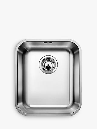 Blanco Supra 340-U Single Bowl Undermounted Kitchen Sink, Stainless Steel