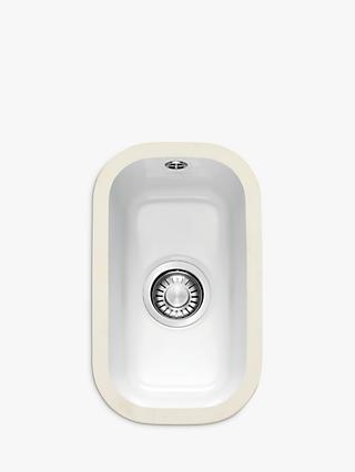 Franke VBK 110-21 Single Bowl Undermounted Ceramic Kitchen Sink, White