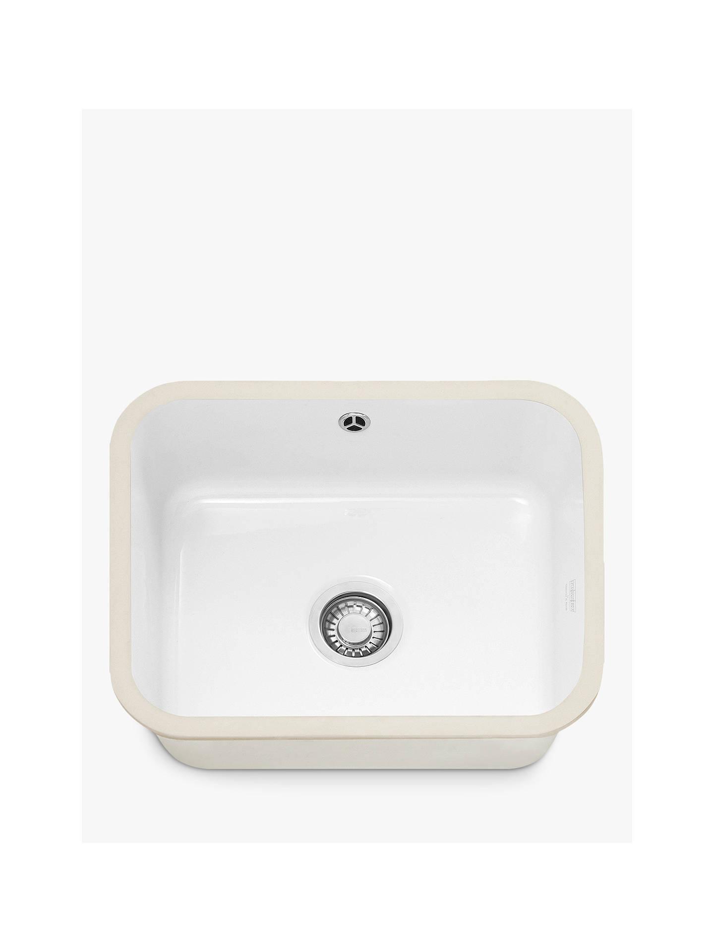 Franke VBK 110-50 Single Bowl Undermounted Ceramic Kitchen Sink ...