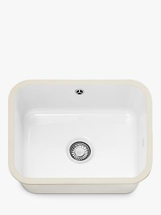 Franke VBK 110-50 Single Bowl Undermounted Ceramic Kitchen Sink, White