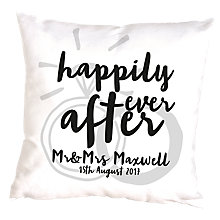 Buy Letterfest Personalised Happily Ever After Cushion Online at johnlewis.com