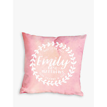 Buy Letterfest Personalised Baby Wreath Cushion Online at johnlewis.com