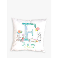 Buy Letterfest Personalised New Baby Cushion Online at johnlewis.com