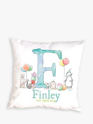 Letterfest Personalised New Baby Cushion