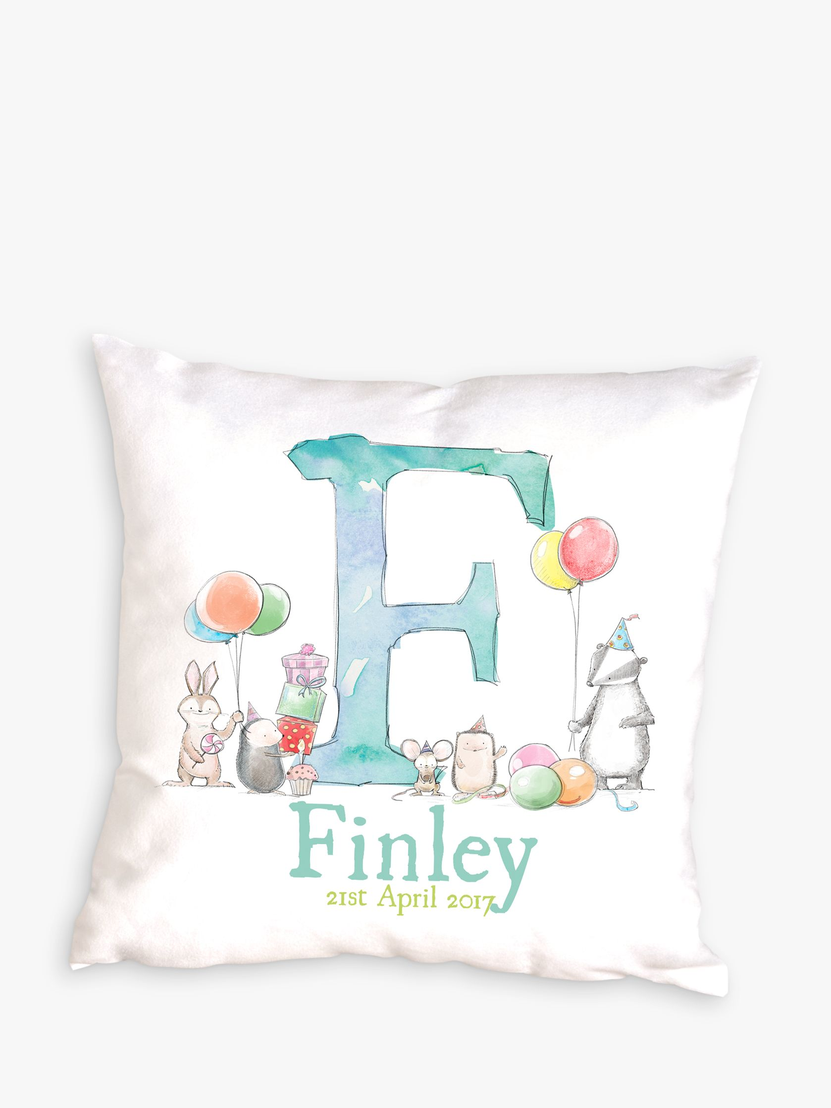 Letterfest Letterfest Personalised New Baby Cushion