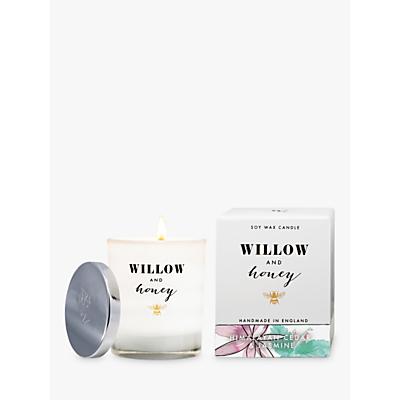 Willow and Honey Himalayan Cedar Jasmine Scented Candle, White, 220g