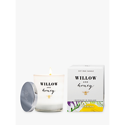 Willow and Honey Eau Verbena Scented Candle, White, 220g
