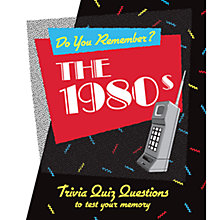Buy Do You Remember? The 1980s Quiz Book Online at johnlewis.com