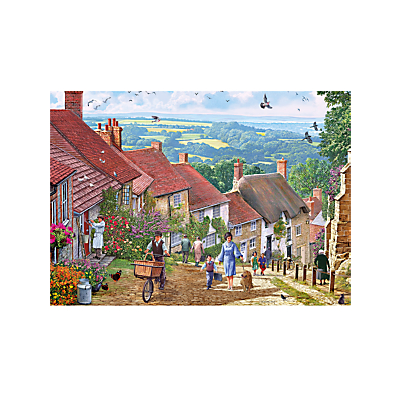 Image of Gibsons Britain's Best Streets Gold Hill Jigsaw Puzzle, 1000 Pieces