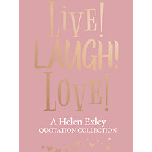Buy Live Laugh Love! by Helen Exley Online at johnlewis.com